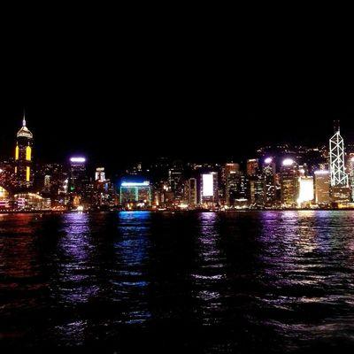 HongKong Nightphotography Landscape Mobilephotography EyeEm Best Shots Victoria Harbour Photography