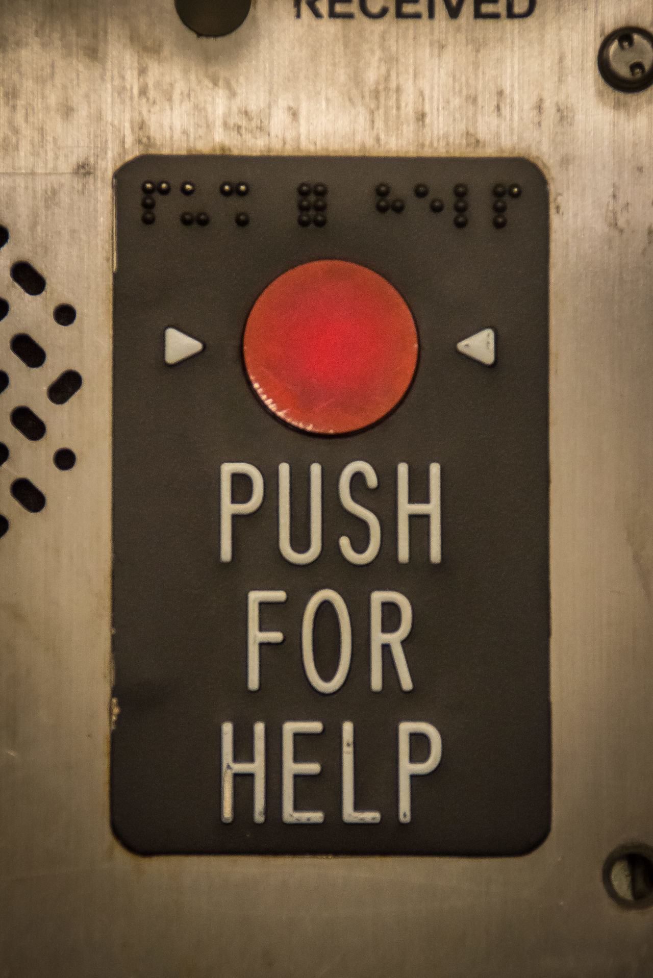 Button Communication Helo Help New York New York City No People Push