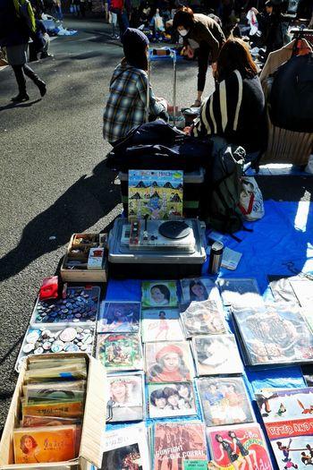 Talking heads/より、歌謡曲のシングルのほうが貴重 Fleamarket Flea Market Records Vinyl Records Record Player Turntable 歌謡曲 Enjoying Life Park Walking Around I Heart Tokyo LUMIX DMC-GX7