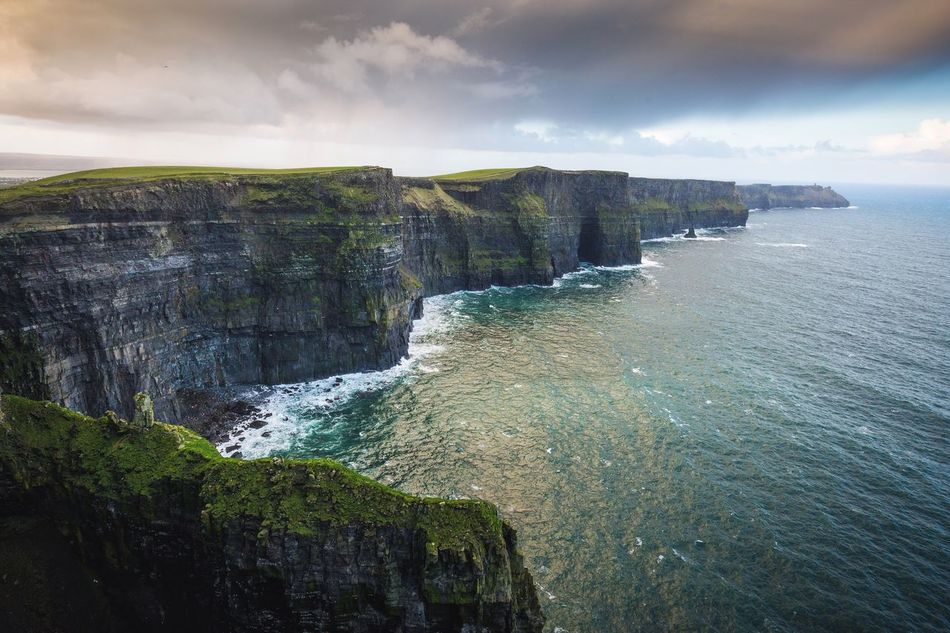 Cliffs of Moher. Ireland Scenics Beauty In Nature Water Nature Sea Tranquility Tranquil Scene Idyllic Sky Rock - Object Cliff No People Day Outdoors Mountain Waterfall