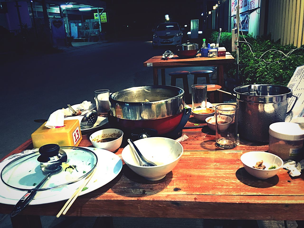 Food Dinner Dinner Time Sidewalk Side Street Soup Night View Life Beautiful Life Chim Pot Chimpot Boiled Hot Countryside Country Life Country Road Countrylife Countryside Life Finished Party Restaurant Food And Drink
