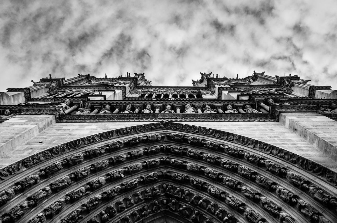 Low Angle View Architecture Building Exterior Sky Famous Place No People Gothic Style History Cloud - Sky Built Structure Paris, France  Paris ❤ Notre-Dame Travel France 🇫🇷 Cathedral Notre Dame De Paris