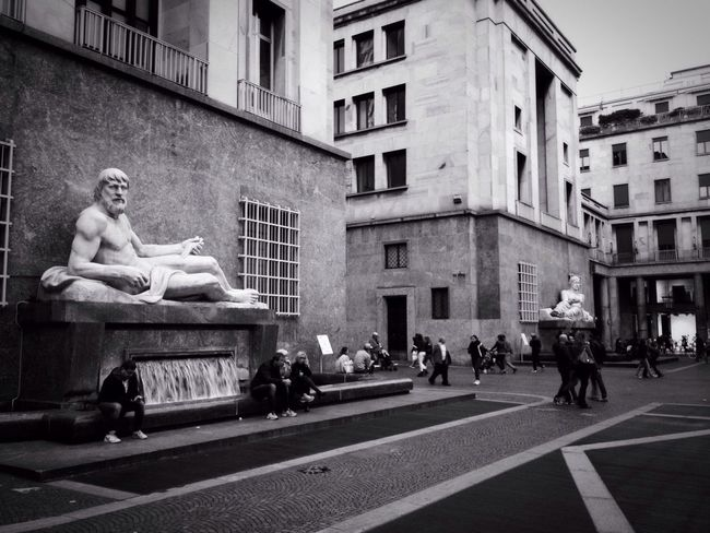 EyeEm Best Shots - Black + White Traveling Streetphotography Streetphoto_bw Blackandwhite Black And White Italy IPhoneography Travel Turin