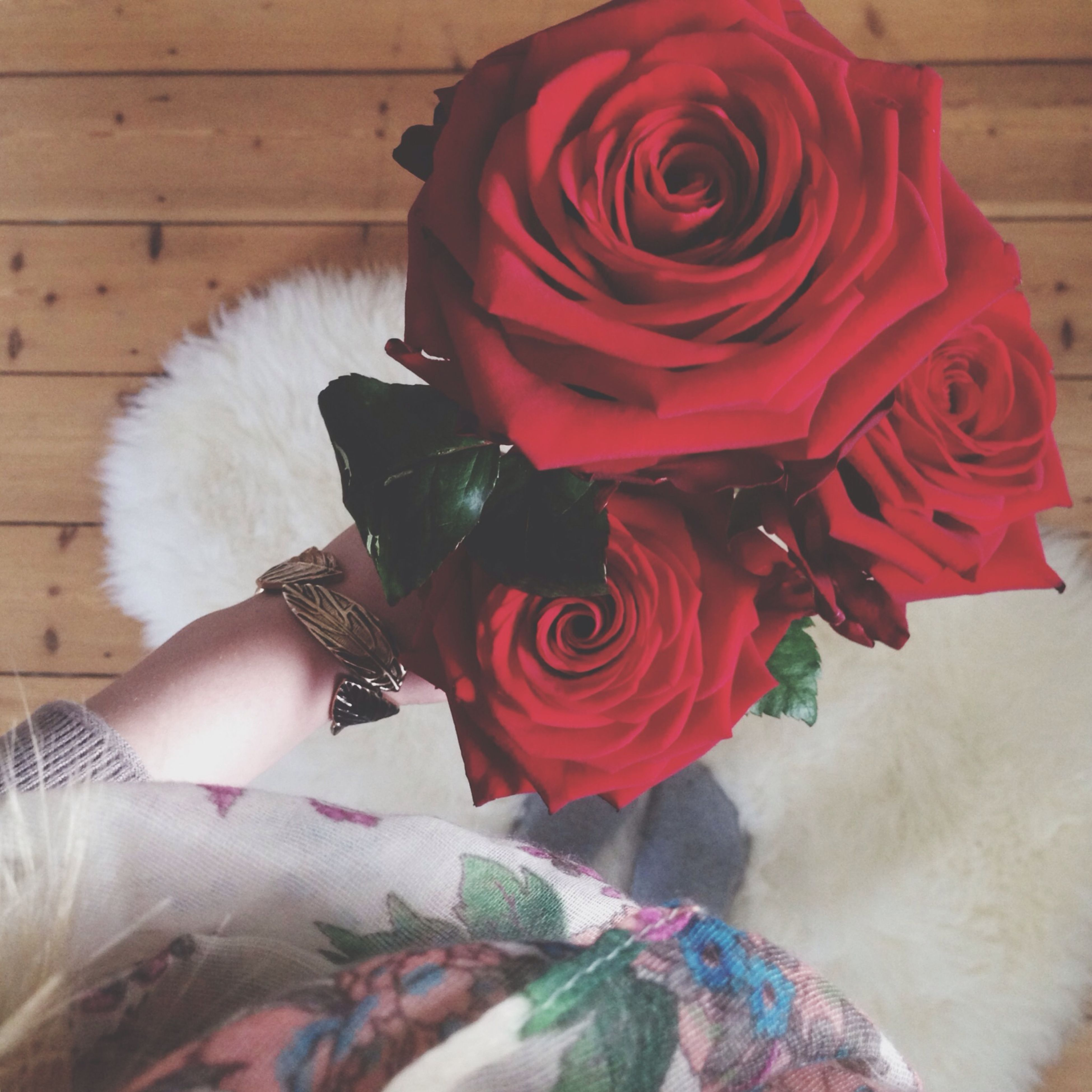 flower, indoors, red, petal, rose - flower, high angle view, close-up, flower head, fragility, no people, pink color, home interior, art and craft, art, toy, still life, rose, day, decoration, white color