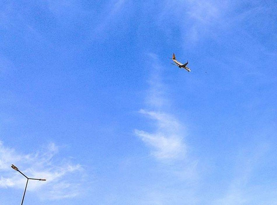 @pegasusairlines 'a ait uçak Kocaseyithavalimanı 'na inerken. LG  G4 Sky Airlines Plane Blue Moment