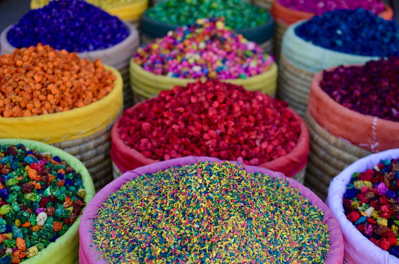 Africa Architecture Bazaar Choice Close-up Colorful Cool Day Flower Food Food And Drink For Sale Freshness Market Market Stall Marrekesh Morocco Multi Colored Multicolor No People Retail  Spice Variation Cuisine Kitchen