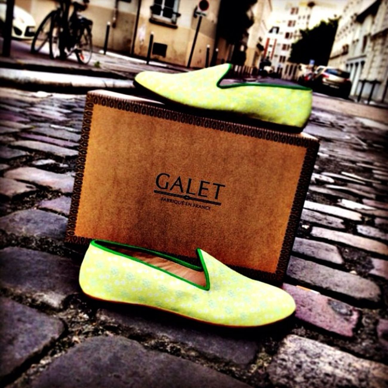 Brand new Galet loafers for the Photoshoot . Does anyone recognise this street in Paris ? Model