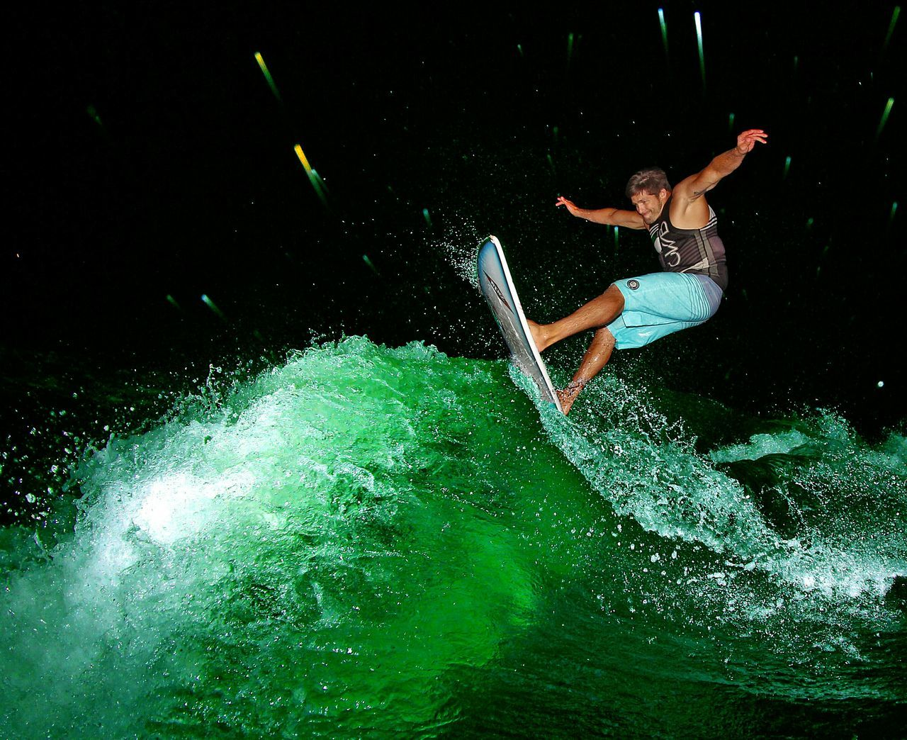 Surf's Up in Manson, WA. Adventure Club Adrenaline Junkie Surfer Glitch Capture The Moment Wakesurfing Surfing Capturing Movement The Adventure Handbook Pacific Northwest  Alternative Fitness