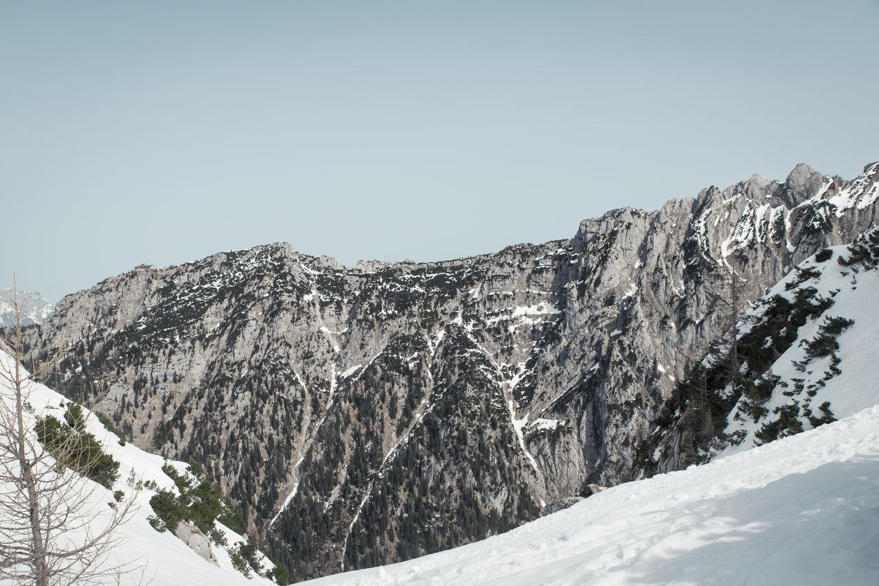 Berchtesgaden Bgl Climbing Hiking Hoher Göll Hohes Brett Mannlgrat Mannlsteig Mountains Negative Space The Alps Winter