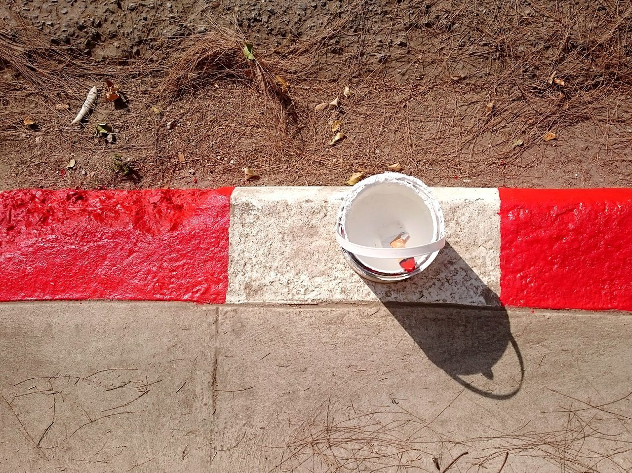 Red Directly Above High Angle View Sunlight No People Textured  Outdoors Close-up Day Color Paint Street