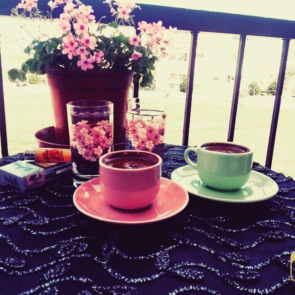 Coffe Yigen Ellerine Saglik pink flowers turkkahvesi ✌☕🌼💐