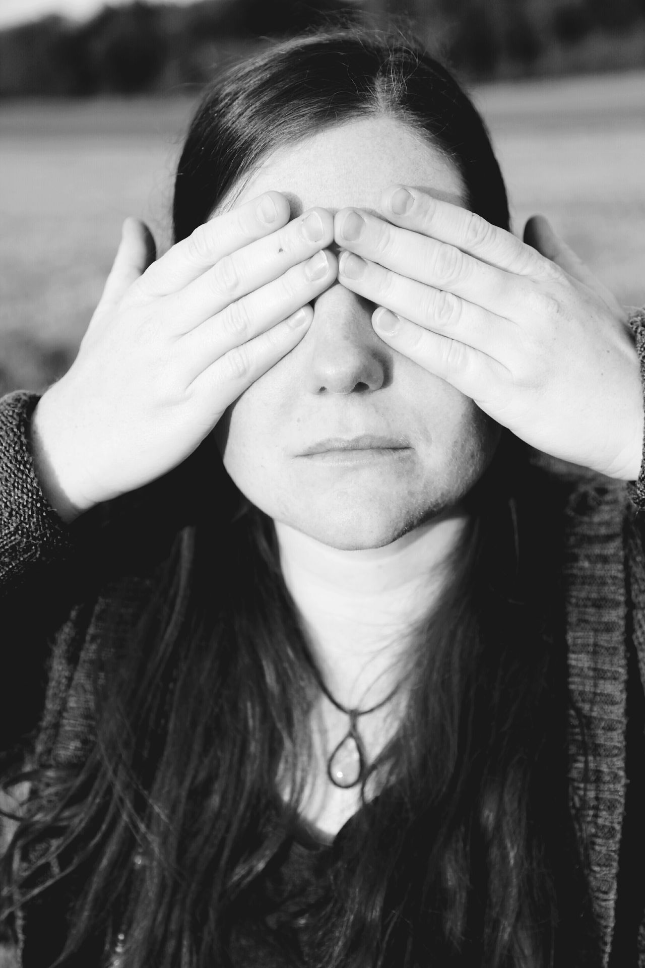 Portrait Hands Hands Covering Eyes Women One Woman Only One Person People Close-up One Young Woman Only Young Adult Human Hand Front View Human Eye Black & White Black And White Blackandwhite Eyes Portrait Of A Woman The Portraitist - 2017 EyeEm Awards Live For The Story BYOPaper!