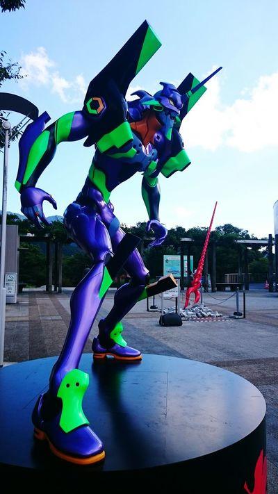 足柄にエヴァ初号機出現!Σ(゚□゚;) Evangelion Japanese Animation Animation Japan Character Statue