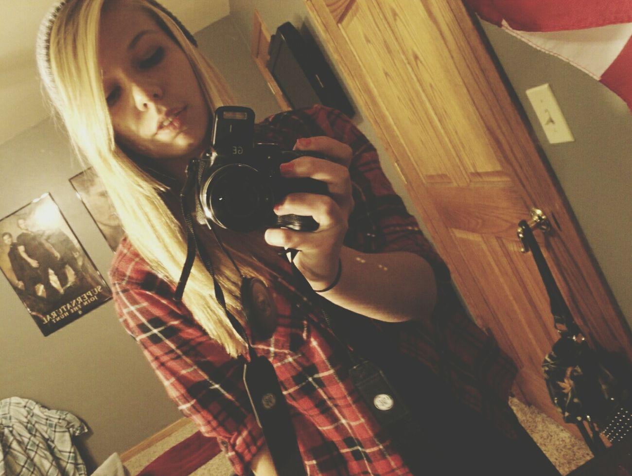 Selfie Camera Flannel Beanie