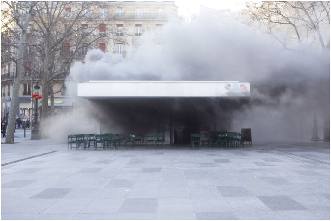 City Day Fire Incendie No People Outdoors Place De La République Place De La République Paris Smoke - Physical Structure