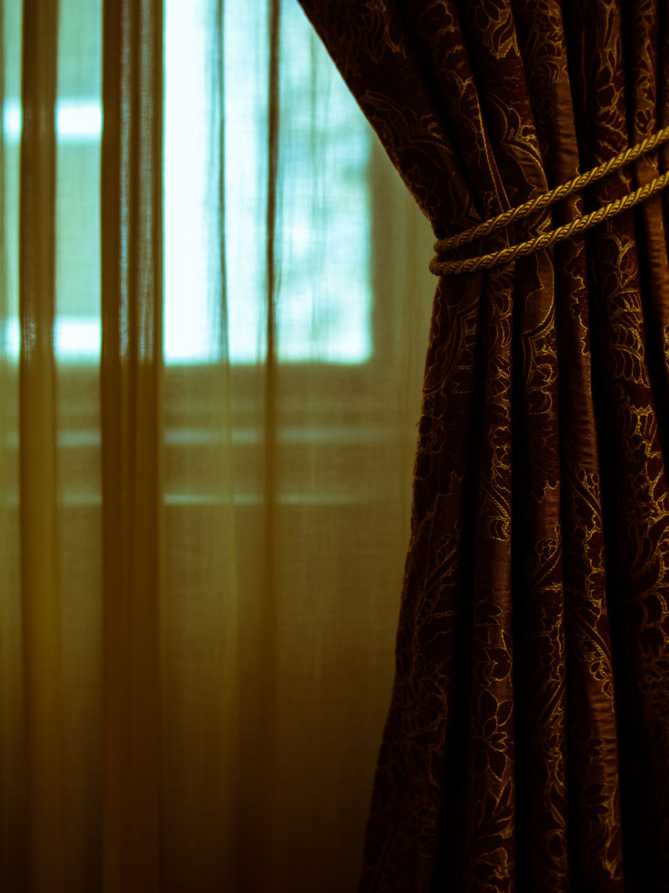 curtain, window, drapes, indoors, textile, close-up, no people, day