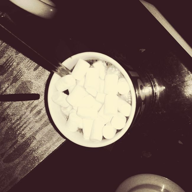 Hot chocolate and marshmallows Relaxing Enjoying Life Hanging Out First Eyeem Photo