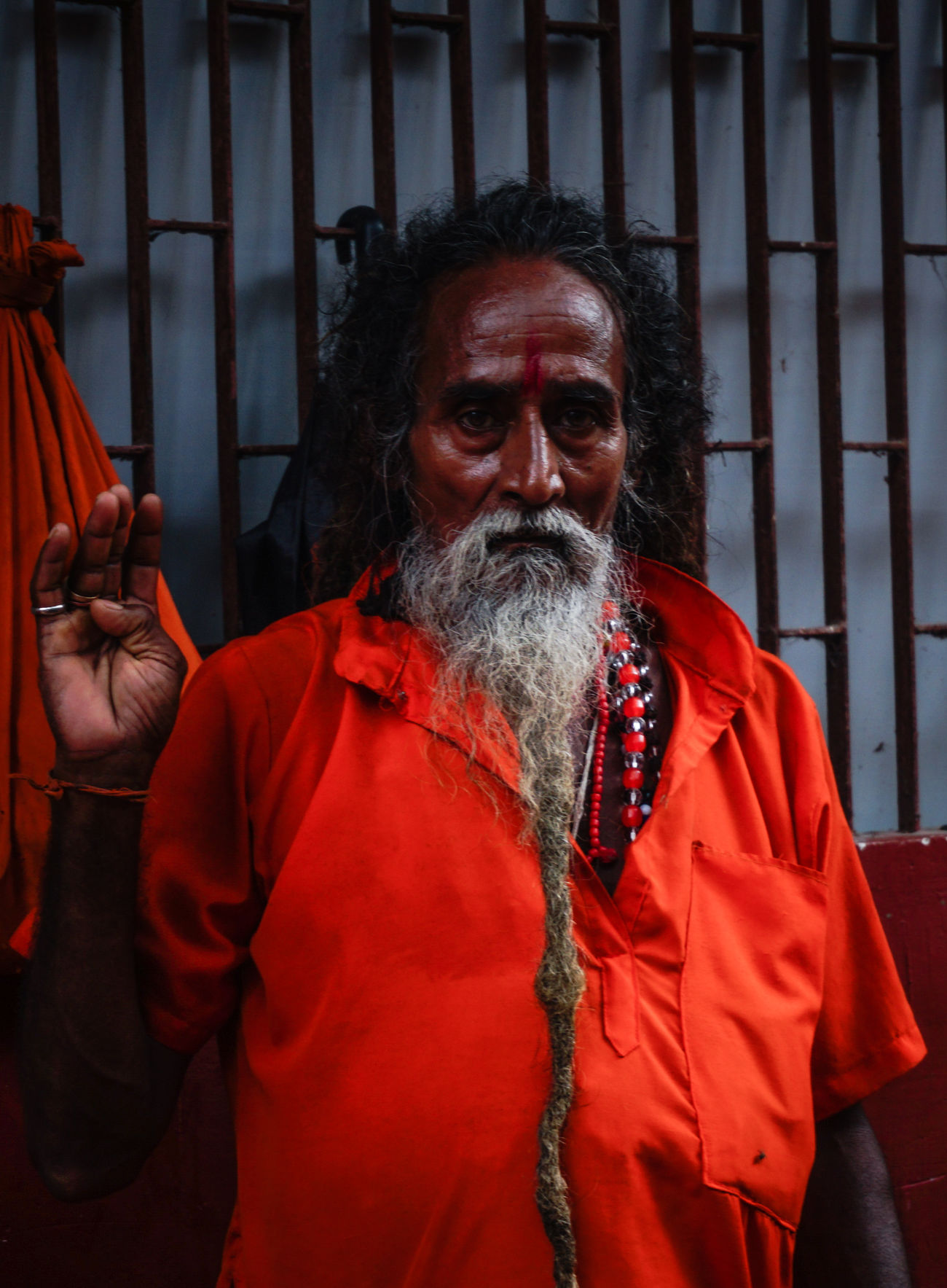 Adult Adults Only Assignments Beard Bright Colours Devotion Emotions Captured Exploring Style Guwahati Human Body Part India Kamakhya Temple Looking At Camera One Man Only One Person Only Men People Portrait Religion Senior Adult Senior Men