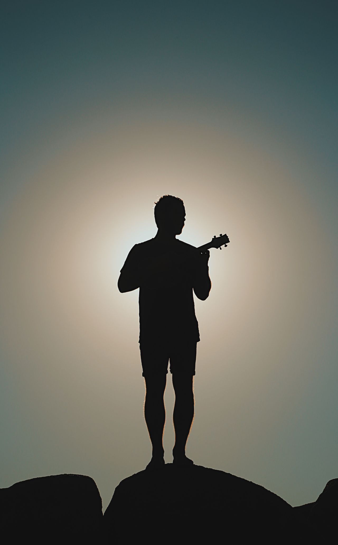 Beautiful stock photos of gitarre, silhouette, one person, only men, one man only