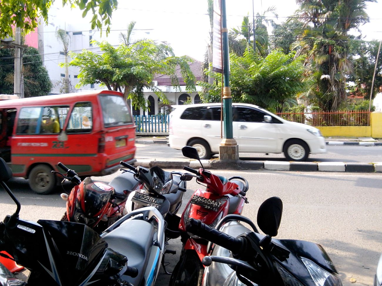 Traffic Motorbike Park Angkot Car