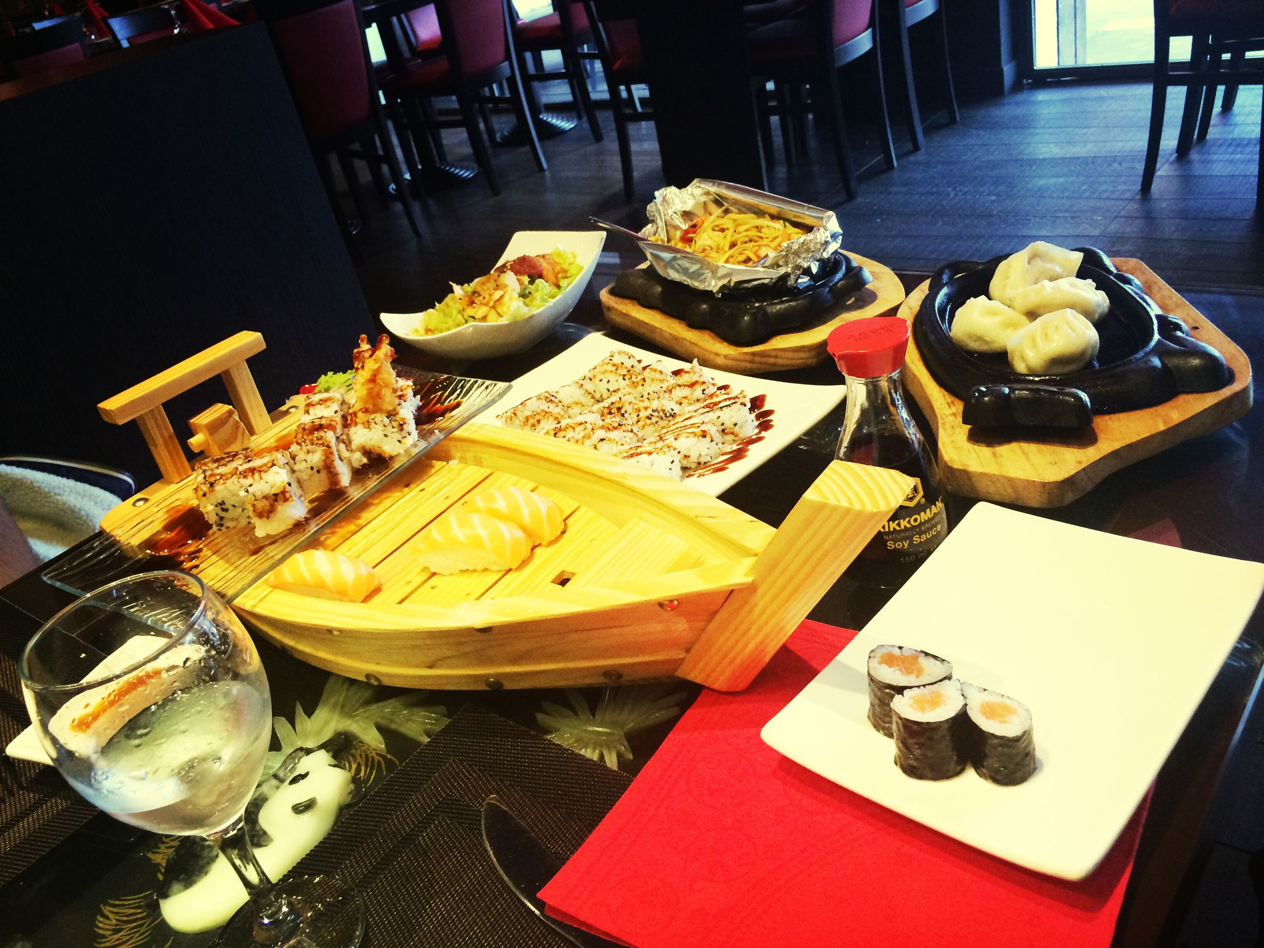 indoors, food and drink, food, table, freshness, still life, plate, ready-to-eat, variation, high angle view, sweet food, indulgence, restaurant, choice, healthy eating, dessert, arrangement, serving size, fork