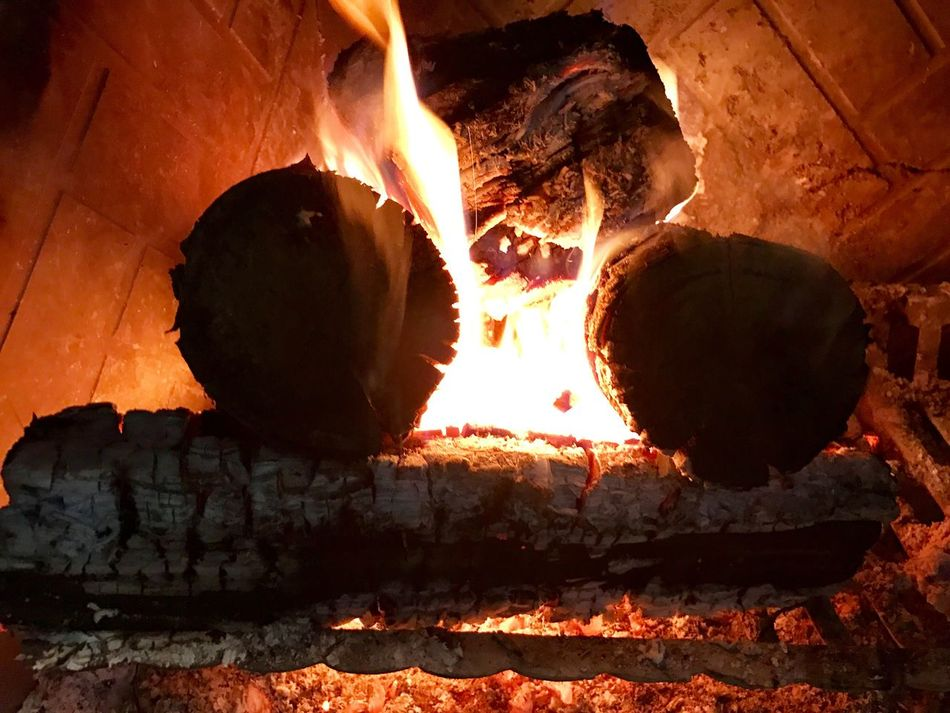 Thanksgiving Fireplace Fire - Natural Phenomenon Flame Heat - Temperature Burning Real People Bonfire Outdoors Night Close-up
