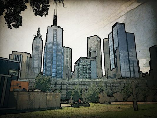 Walking around at Birrarung Marr by melburnian