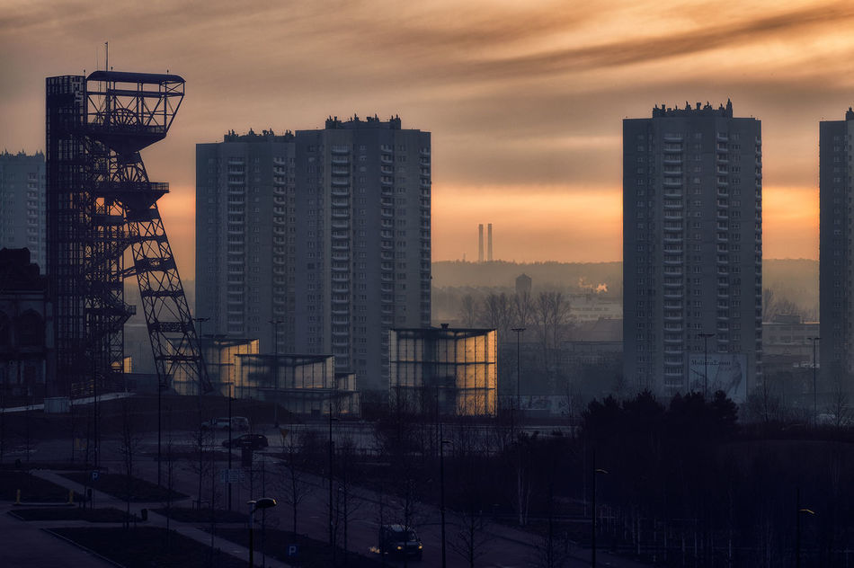 Colour Katowice Landscape Light Magicallight Morning Light Silesia Silesian Museum Sky Sunlight Sunrise Traveling Home For The Holidays