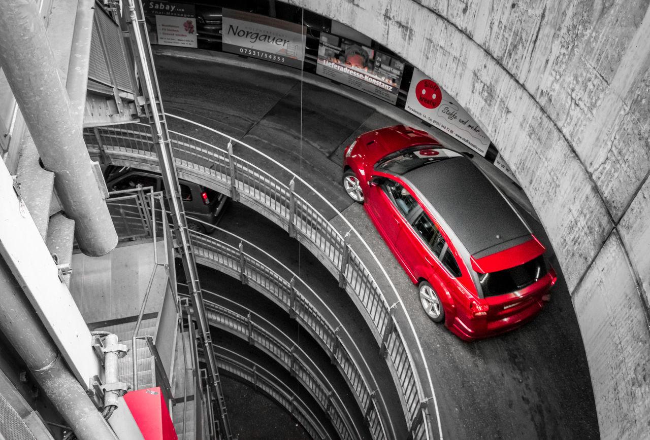 Parkhaus in Konstanz (DE) Architecture Car City Colors Isolated Color Outdoors Parkhaus Red