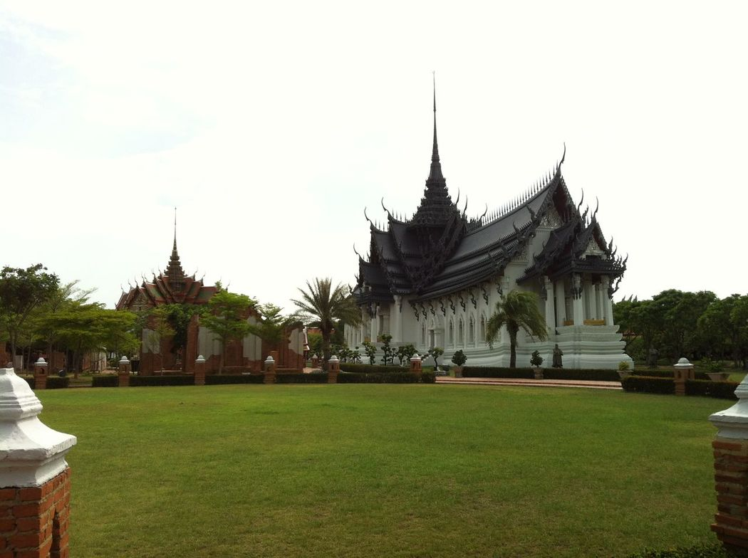 Photos of Bangkok, Thailand 2012 Architecture Building Exterior Built Structure Day Grass No People Outdoors Place Of Worship Religion Sky Spirituality Tree