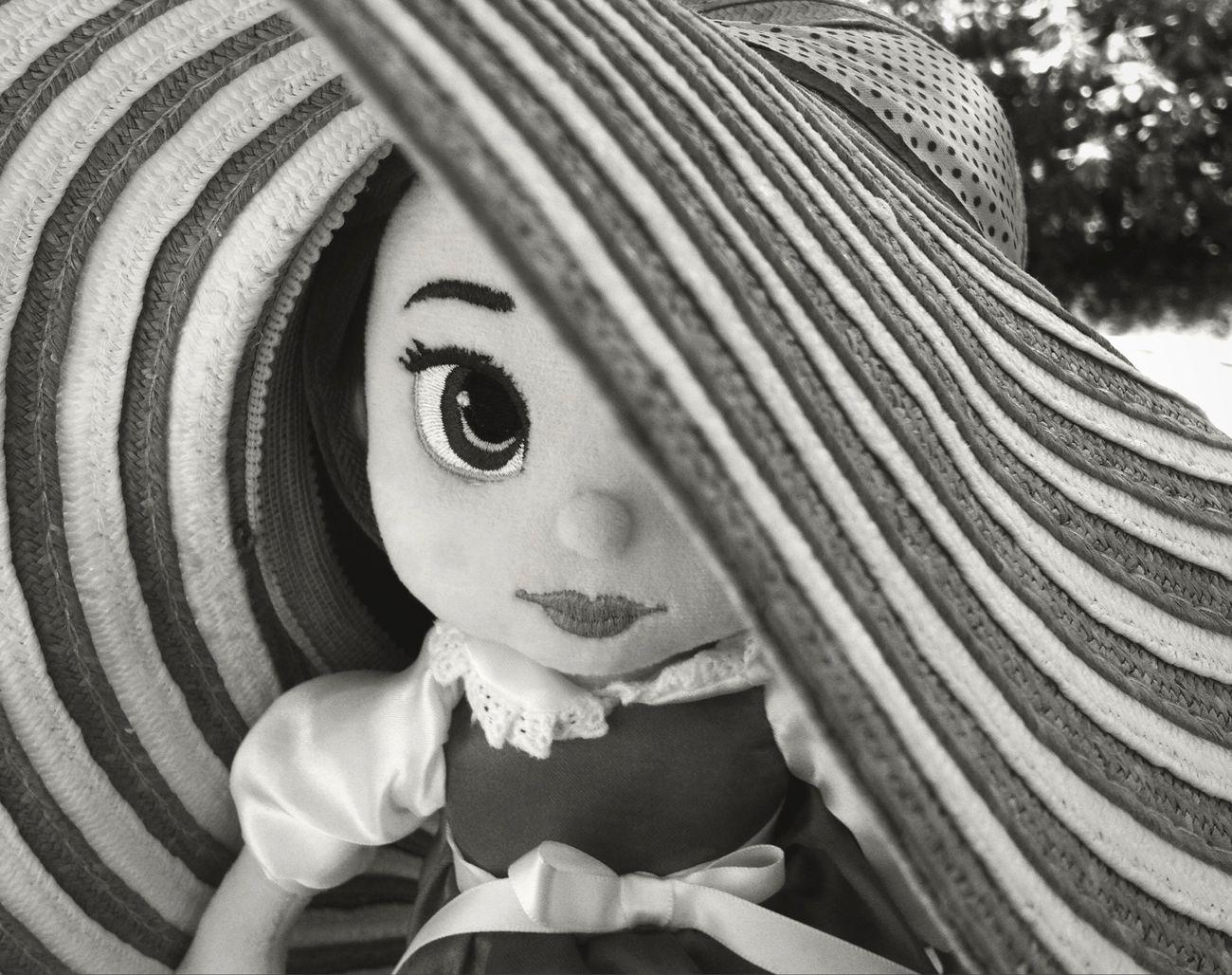 Beauty And The Beast Belle Beauty Belle Beauty Summer Summertime Vintage Style Fashion Love Blackandwhite Hat Disney Disney Toys Girl