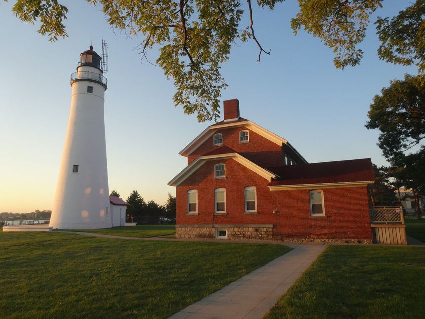 Lighthouse Architecture Building Exterior Clear Sky Tranquil Scene Showcase September Pure Michigan Unedited The Purist No Filter No Edit Historicalplaces Lighthouse Beauty In Nature