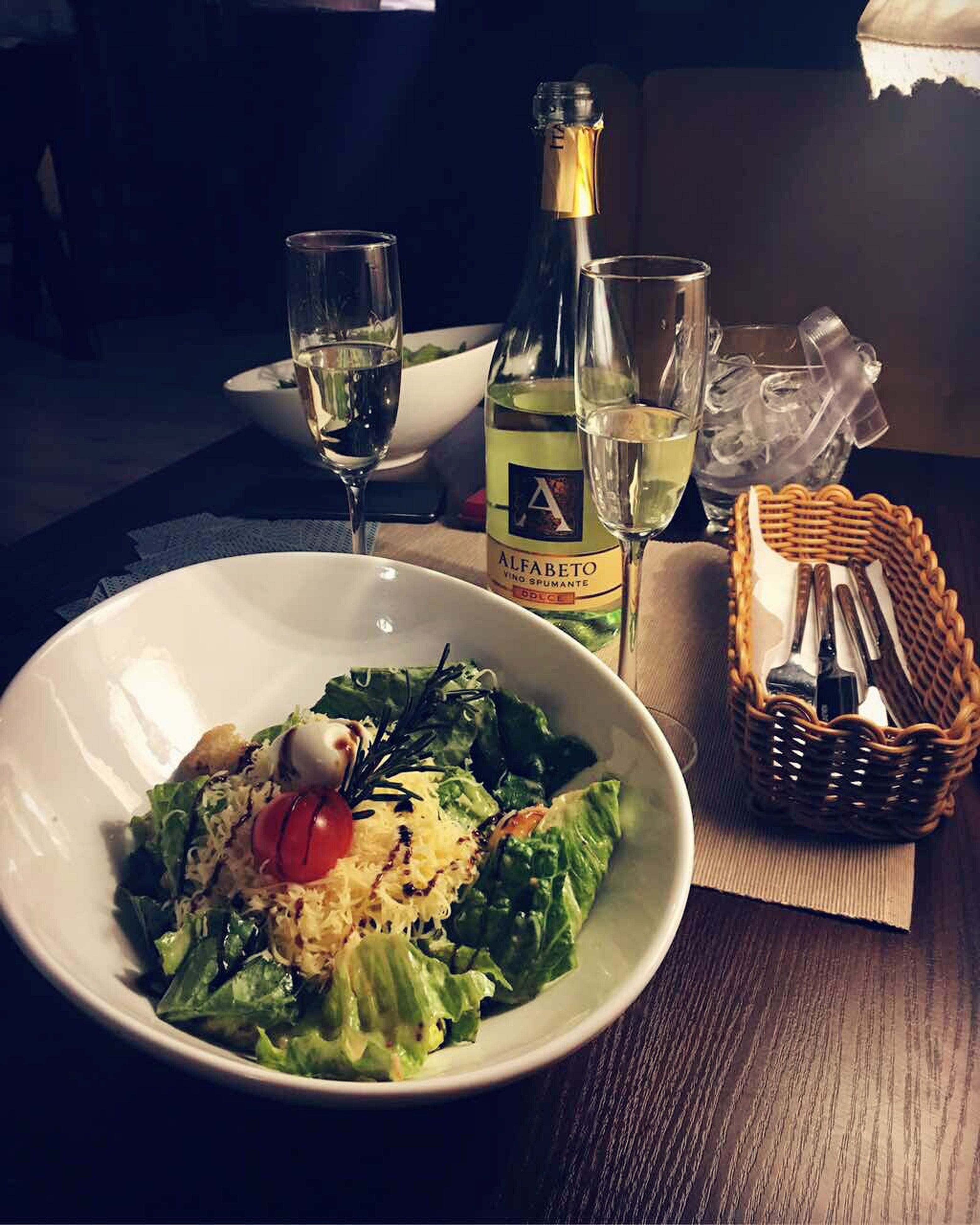 food and drink, wineglass, plate, food, drinking glass, freshness, table, wine, healthy eating, dinner, drink, no people, ready-to-eat, serving size, alcohol, close-up, indoors