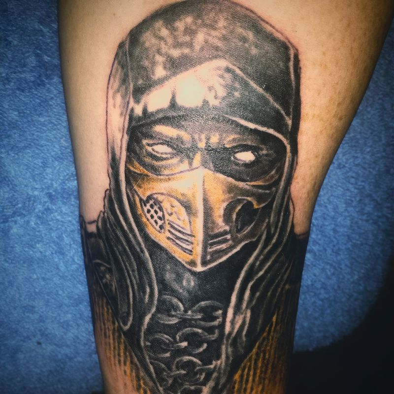 Started my 2nd sleeve keeping with the Mortalkombat Mortal Kombat theme again Tattoo Tattoos Gaming Geek