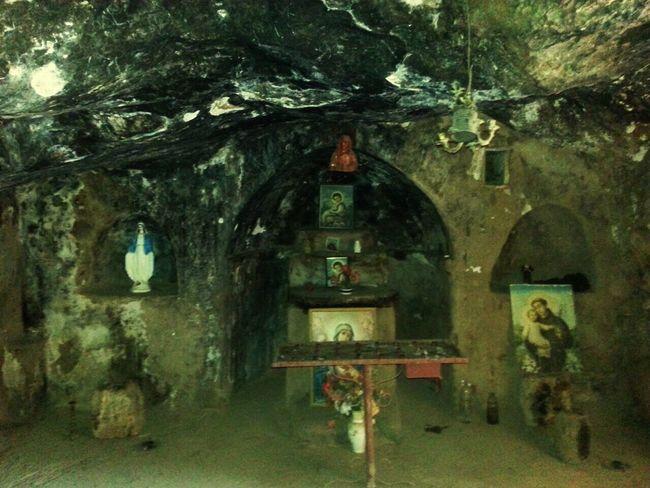 Old Church Inside Cave Lebanon Becharre
