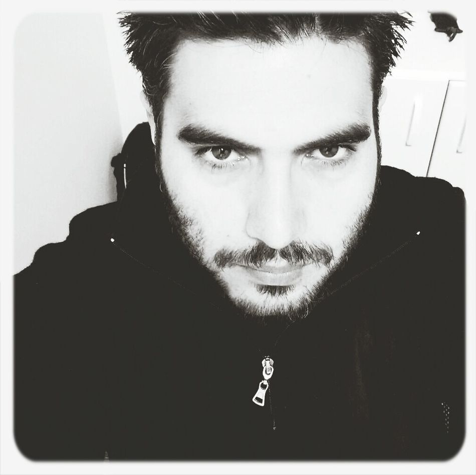 Blackandwhite Beard Looking Tired