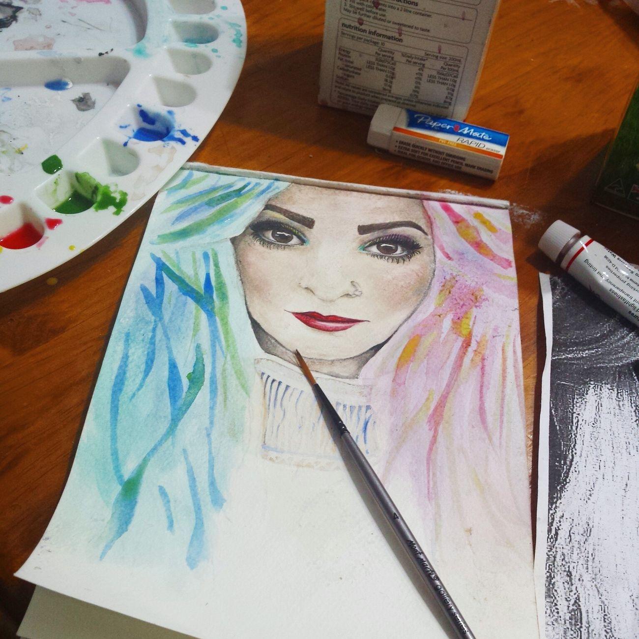 Unfinished_art ArtWork Workinprogress Watercolor Painting Relaxing