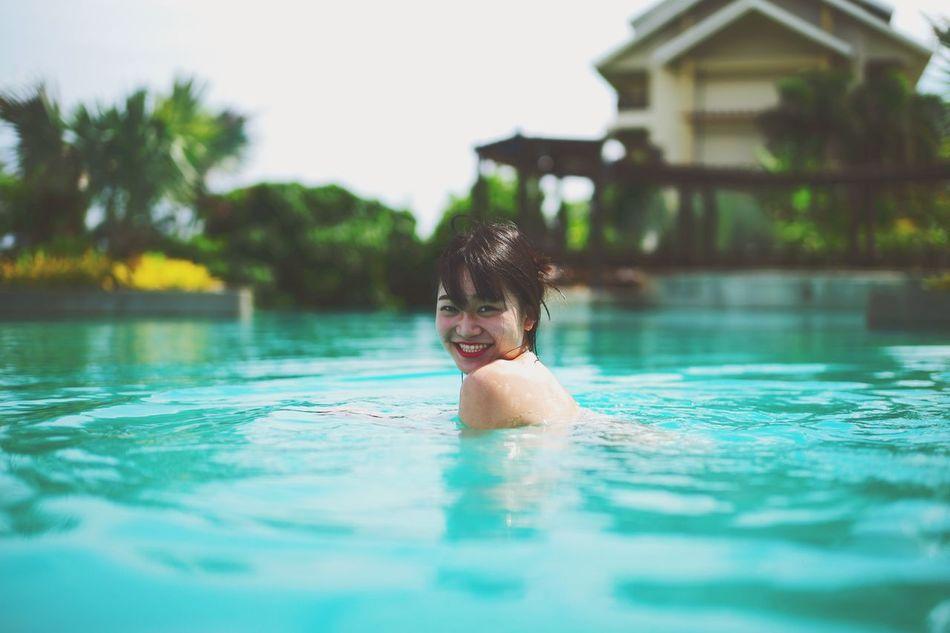 Swimming Sunshine Enjoying The Sun Relaxing Sea Beautiful Girl Beauty Traveling Smile