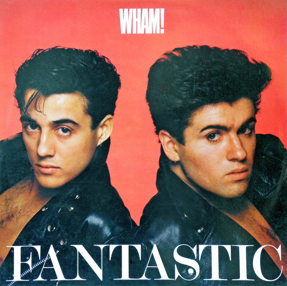 Wham! LP 'Fantastic', gramophone record cover, George Michael 1983. 1983. ArtWork Author Cover Culture Design Duo Fantastic George Michael Gramophone Record History LP Music Musician People Pop Popular Portrait Rock Singer And Artist Star Togetherness Two People WHAM!