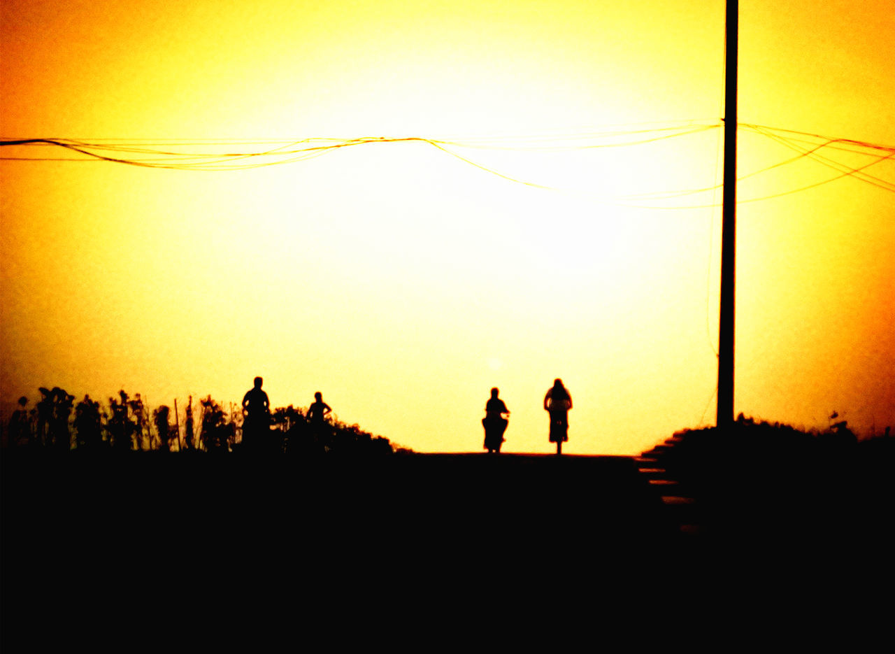 Art Beauty Beauty In Nature Beauty In Nature Dark Dawn Memories Memory Nature On The Way On The Way Home Orange Color Outdoors Outline People Photography Relax Riding Sunset Together Way Yellow First Eyeem Photo