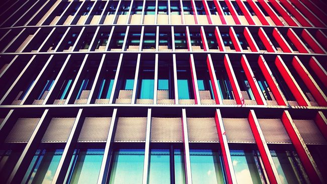 Color lines Architecture Buldings Frankfurt Skyline Plaza Looking Up Lines Sony Xperia Z3