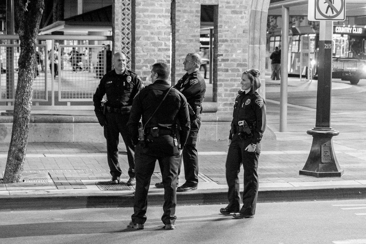 City Of Tucson Tucson, AZ Protector Downtown Tucson Police Photography Street Photography Black And White Photography B&w Street Photography