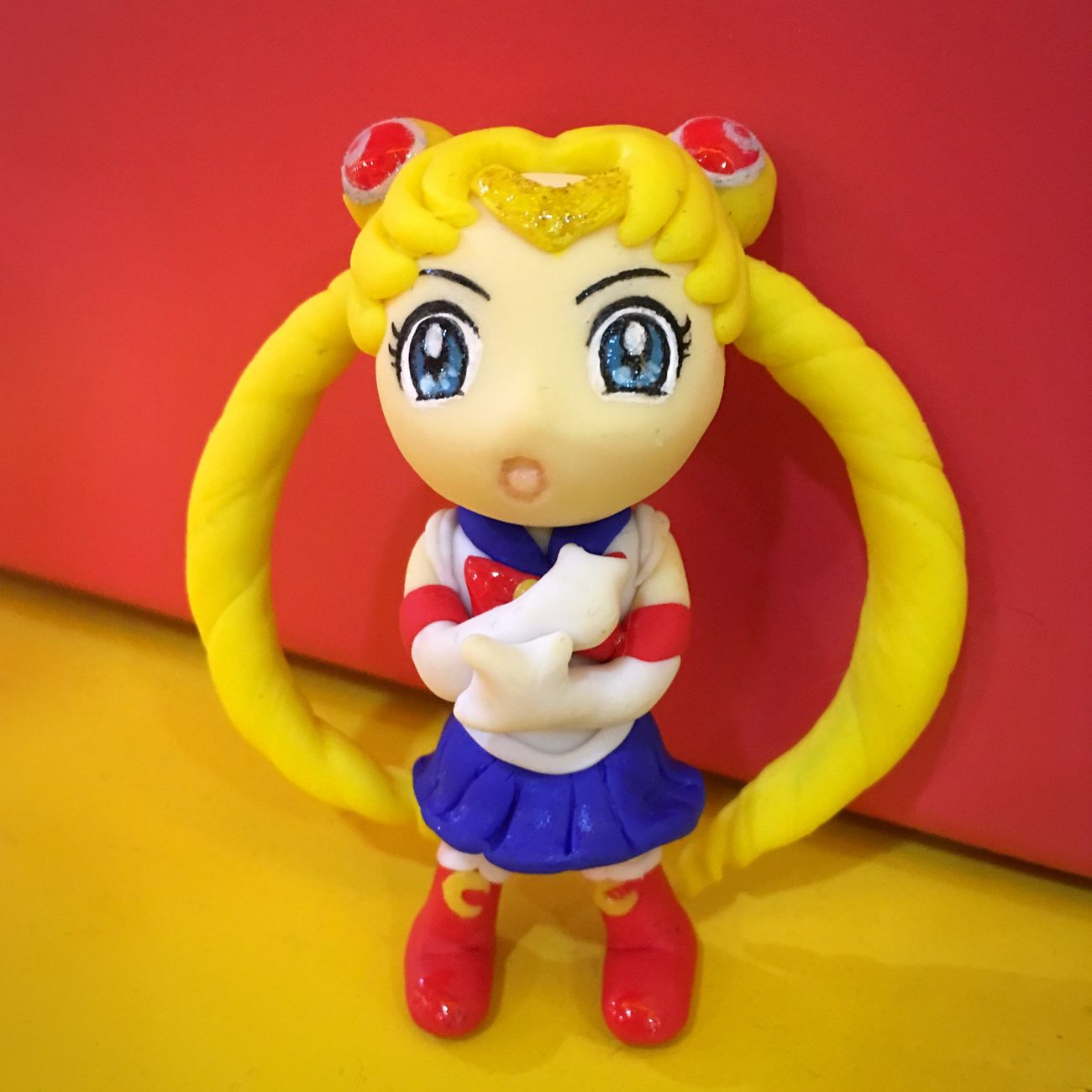 童年回忆-美少女战士水冰月 Sailormoon Sailor Moon Polymer Clay DIY Handmade Girl Cartoon
