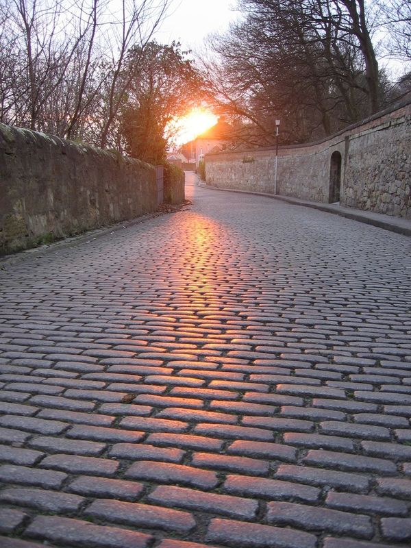 Light on cobbles Sunset The Way Forward Sunlight Cobblestone No People Nature Outdoors Sun Beauty In Nature Sky Architecture Day Dysart Scotland 💕 Fife Coastal Path Fife Scotland