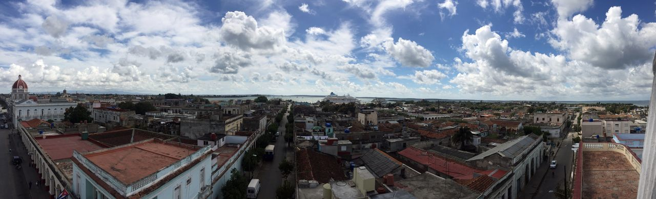 Architecture City Life Cuba Cuba Collection Panoramic Architecture Building Exterior Cienfuegos, Cuba City Cityscape Cloud - Sky Clouds And Sky Outdoors Panoramic Roof Town