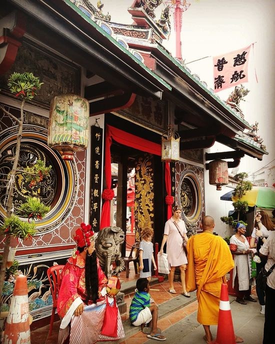 Multi-cultural multi-religion multi-nationality Architecture Travel Destinations Place Of Worship Cultures Adults Only Day Men People Indoors  Adult Religion Temple Historical Building Heritage UNESCO World Heritage Site Door Chinese Malacca