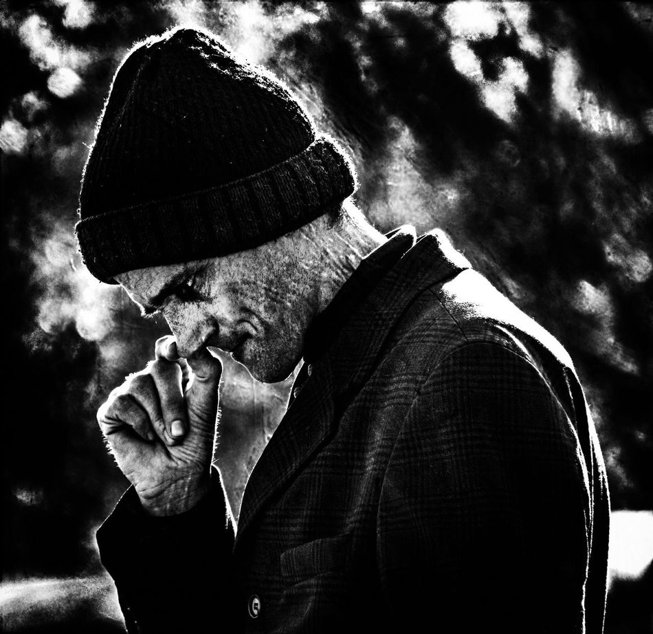 sadness(a street portrait) Artistic Portrait Beard Black And White Close-up Emotions Captured Emotive Portraiture Expression Men Moody Old-fashioned One Man Only One Person Only Men People Real People Sadness Street People Street Photography Street Portrait