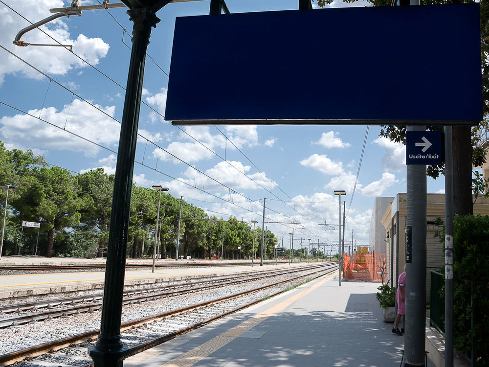 Italian Station railway Binary Cloud Departure Industrial Italian Italy No People Platform Public Rail Railroad Railway Road Road Road Sign Signboards Station Station Train Terminal Track Train Transport Transportation