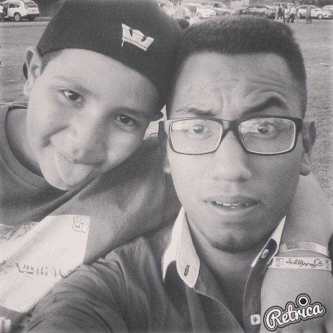 Brothers Soccertraining Blackandwhite