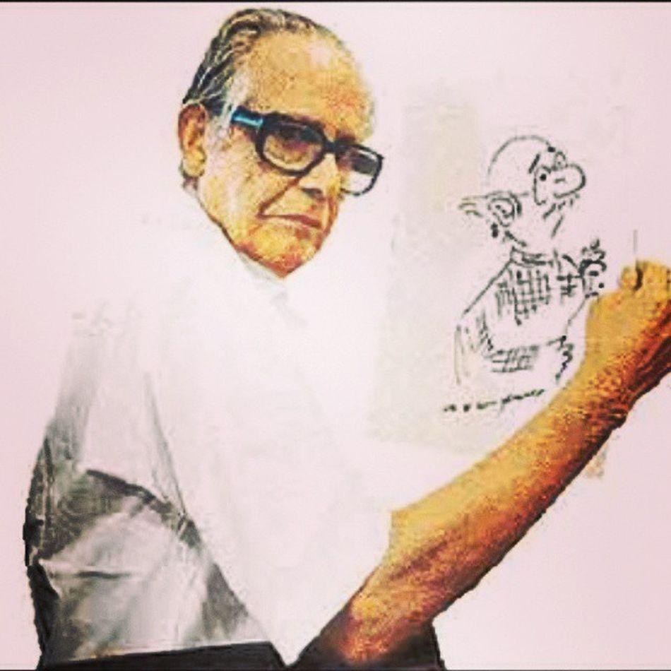 We miss the legendary cartoonist Shri RKLaxman , who is passed away. RIPRKLaxman Rip Cartoon CommanMan